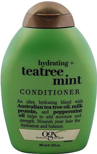 OGX Hydrating + Teatree Mint Conditioner, Sulfate Free, 385ml