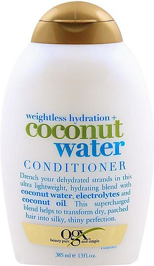 OGX Weightless Hydration + Coconut Water Conditioner, Sulfate Free, 385ml