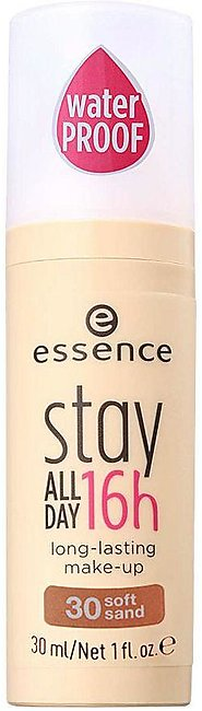 Essence Stay All Day 16H Long Lasting Make-Up Foundation, 30, Soft Sand