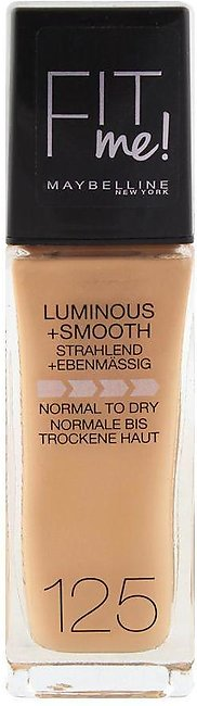 Maybelline New York Fit Me Liquid Foundation, 125 Nude Beige