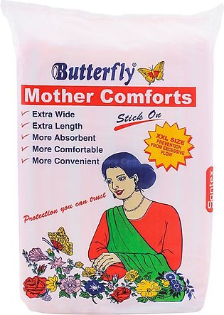 Butterfly Mother Comforts Stick On, XXL, 10-Pack