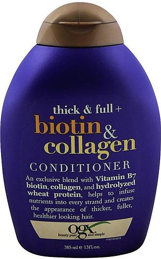 OGX Thick & Full + Biotin & Collagen Conditioner, Sulfate Free, 385ml