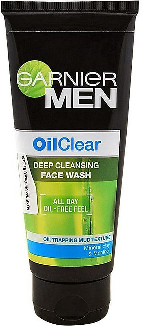 Garnier Men Oil Clear Deep Cleansing Face Wash, 100gm
