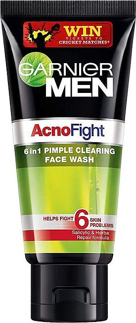 Garnier Men Acno Fight 6-in-1 Pimple Clearing Face Wash 100g