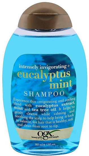 OGX Intensely Invigorating + Eucalyptus Mint Shampoo, Sulfate Free, 385ml