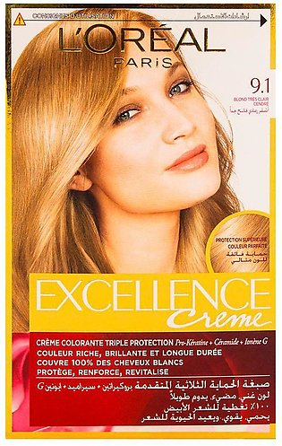 L'Oreal Paris Excellence Hair Color Very Light Ash Blond 9.1