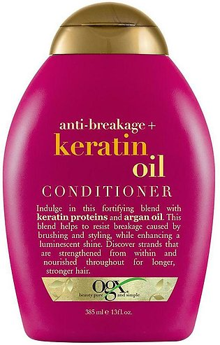 OGX Anti-Breakage + Keratin Oil Conditioner, Sulfate Free, 385ml