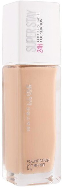 Maybelline New York Superstay 24h Full Coverage Foundation, 130 Buff Beige