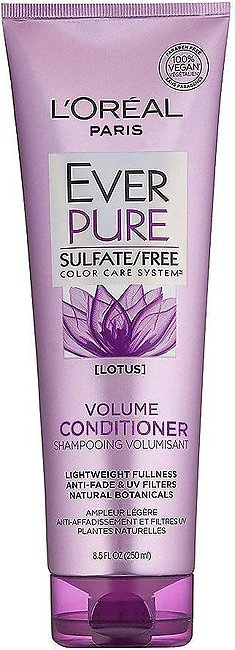 L'Oreal Paris Ever Pure Lotus Volume Conditioner, Sulfate Free, 250ml