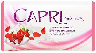 Capri Moisturising Strawberry Softeners Soap, 140g