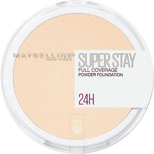 Maybelline New York Superstay 24h Full Coverage Powder Foundation, 120 Classic …