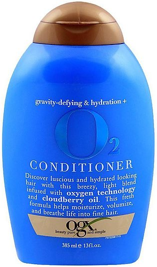 OGX Gravity-Defying & Hydration + O2 Conditioner, Sulfate Free, 385ml