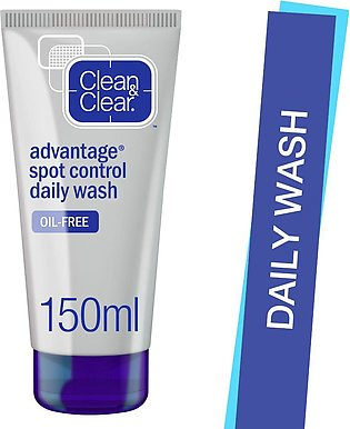 Clean & Clear Advantage Spot Control Daily Face Wash, Oil Free, 150ml