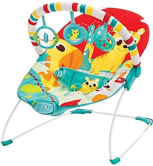 Mastela Soothing Vibrations Baby Bouncer, Red/Grey, 6730