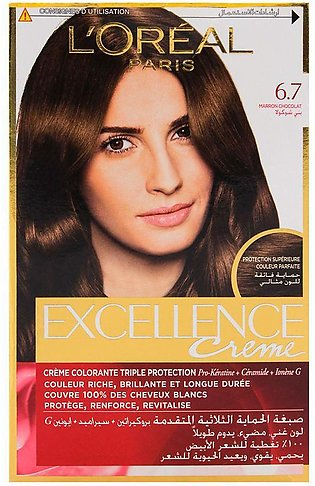 L'Oreal Paris Excellence Hair Color Chocolate Brown 6.7