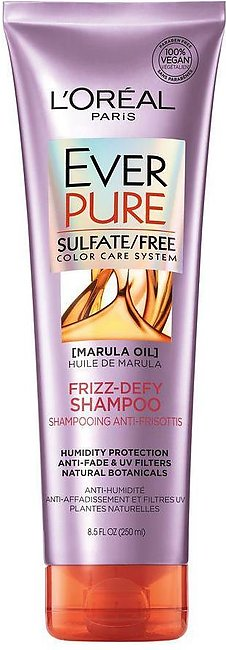 L'Oreal Paris Ever Pure Marula Oil Frizz-Defy Shampoo, Sulfate Free, 250ml