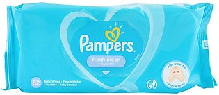 Pampers Fresh Clean Baby Scent Baby Wipes, 52-Pack