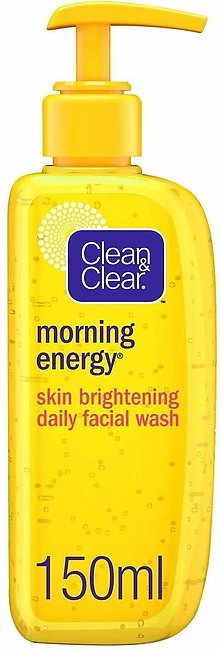 Clean & Clear Morning Energy Skin Brightening Daily Facial Wash, Oil Free, 150ml