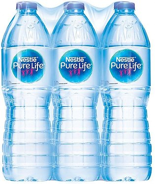 Nestle Pure Life Drinking Water, 1.5 Litres, 6 Piece Carton