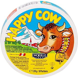 Happy Cow Processed Cheese, 8 Portion 120g