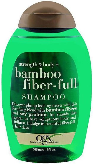 OGX Strength & Body + Bamboo Fiber-Full Shampoo, Sulfate Free, 385ml