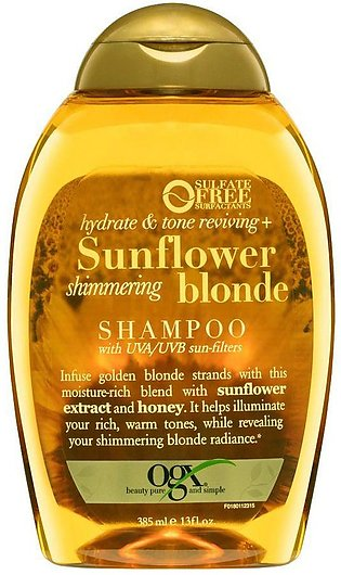 OGX Hydrate & Color Reviving + Sunflower Shimmering Blonde Shampoo, Sulfate F...