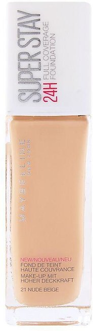 Maybelline New York Superstay 24h Foundation, 21 Nude Beige