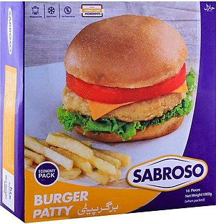 Sabroso Burger Patty, 16 Pieces, Chicken, 1000g