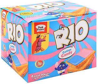 Peek Freans Rio Cotton Candy Biscuits, 6 Half Rolls
