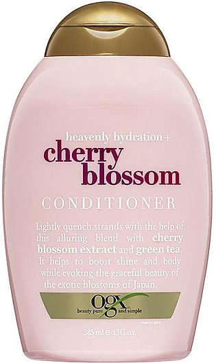 OGX Heavenly Hydration + Cherry Blossom Conditioner, Sulfate Free, 385ml