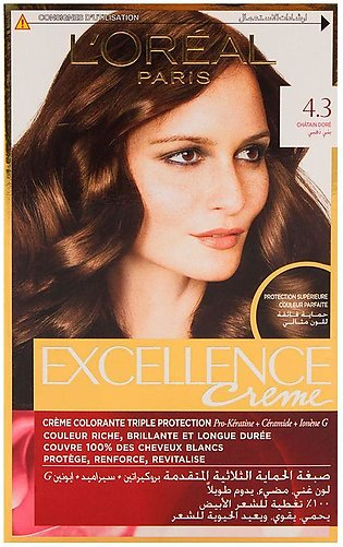 L'Oreal Paris Excellence Hair Color Golden Brown 43
