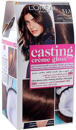 L'Oreal Paris Casting Hair Color, 513 Ashy Nude Brown