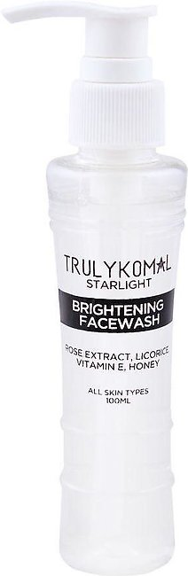 Truly Komal Starlight Brightening Rose Extract Face Wash, All Skin Types, 100ml