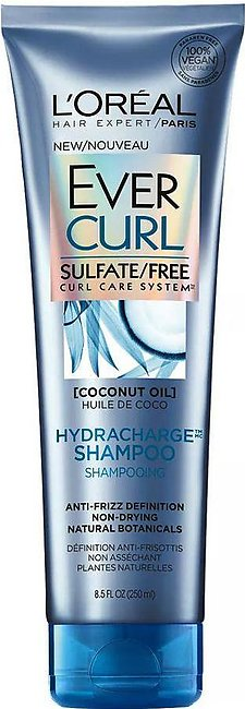 L'Oreal Paris Ever Curl Coconut Oil Hydracharge Shampoo, Sulfate Free, 250ml