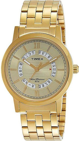 Timex Analog Champagne Dial Men's Watch - TW000T126