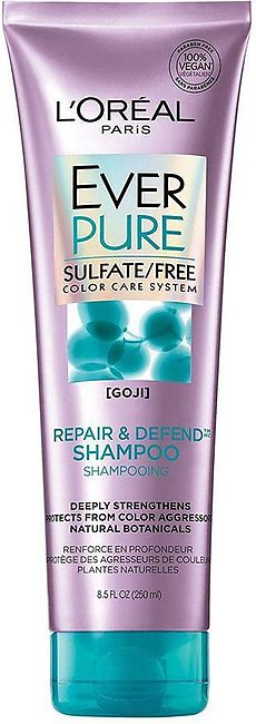 L'Oreal Paris Ever Pure Goji Repair & Defend Shampoo, Sulfate Free, Color Car...