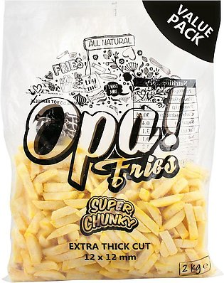 Opa! Fries Super Chunky, Extra Thick Cut, 12x12mm, 2 KG