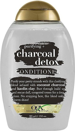 OGX Purifying + Charcoal Detox Conditioner, Sulfate Free, 385ml