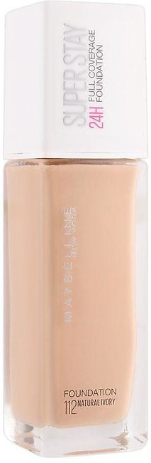 Maybelline New York Superstay 24h Full Coverage Foundation, 112 Natural Ivory