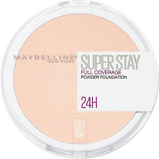 Maybelline New York Superstay 24h Full Coverage Powder Foundation, 130 Buff Bei…