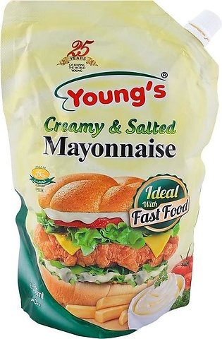 Young's Mayonnaise Creamy & Salted 500gm Pouch