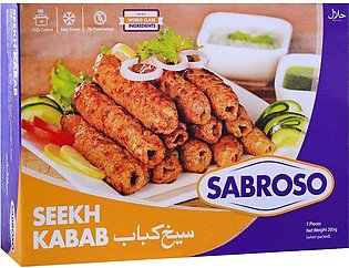 Sabroso Chicken Seekh Kabab, 7 Pieces, 205g
