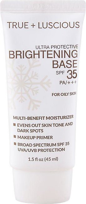 Luscious Cosmetics Ultra Protective Brightening Base, SPF 35 PA+++, For Oily Sk…
