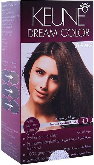 Keune Dream Color 4.3 Medium Golden Brown