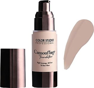 Color Studio Camouflage Foundation, High Coverage, Oil Free, W25