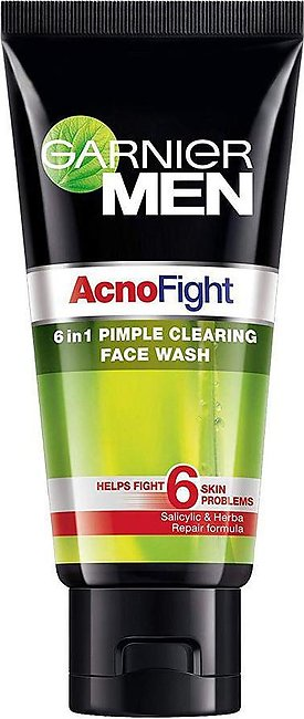 Garnier Men Acno Fight 6-In-1 Pimple Clearing Face Wash 50g