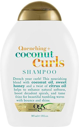 OGX Quenching + Coconut Curls Shampoo, Sulfate Free, 385ml