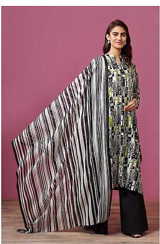 41907534- Printed Lawn & Voil 2PC