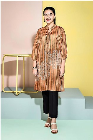 PS20-239 - Printed Stitched Lawn Shirt - 1PC