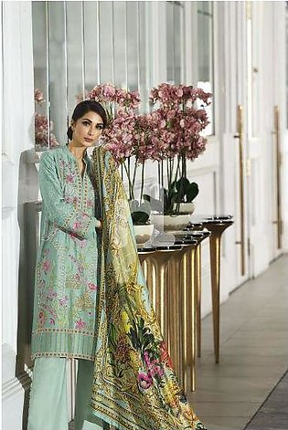 41908008-Silk Green Digital Printed Embroidered Luxury Unstitched - 3PC